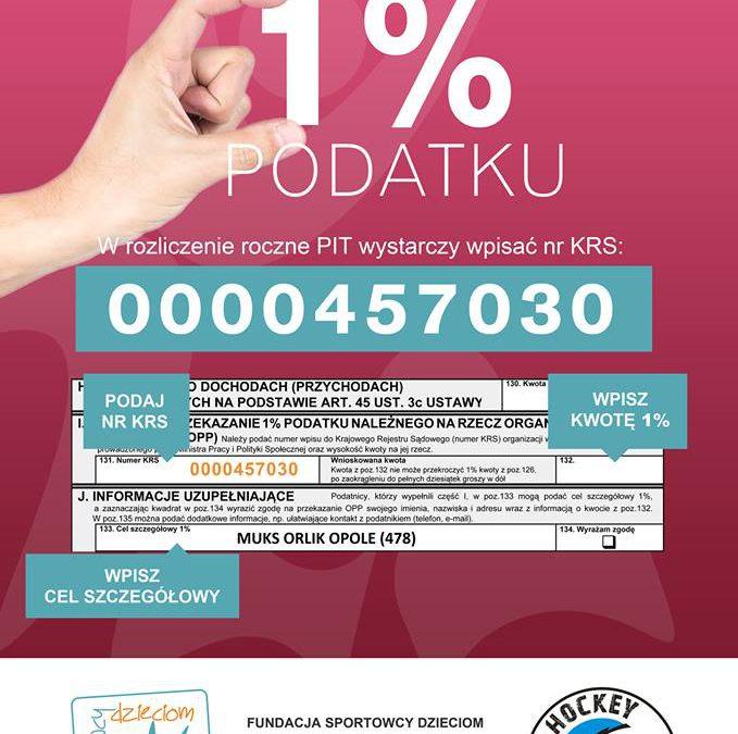 1% Podatku na MUKS ORLIK OPOLE !!!!  Jesteśmy Organizacją Pożytku Publicznego